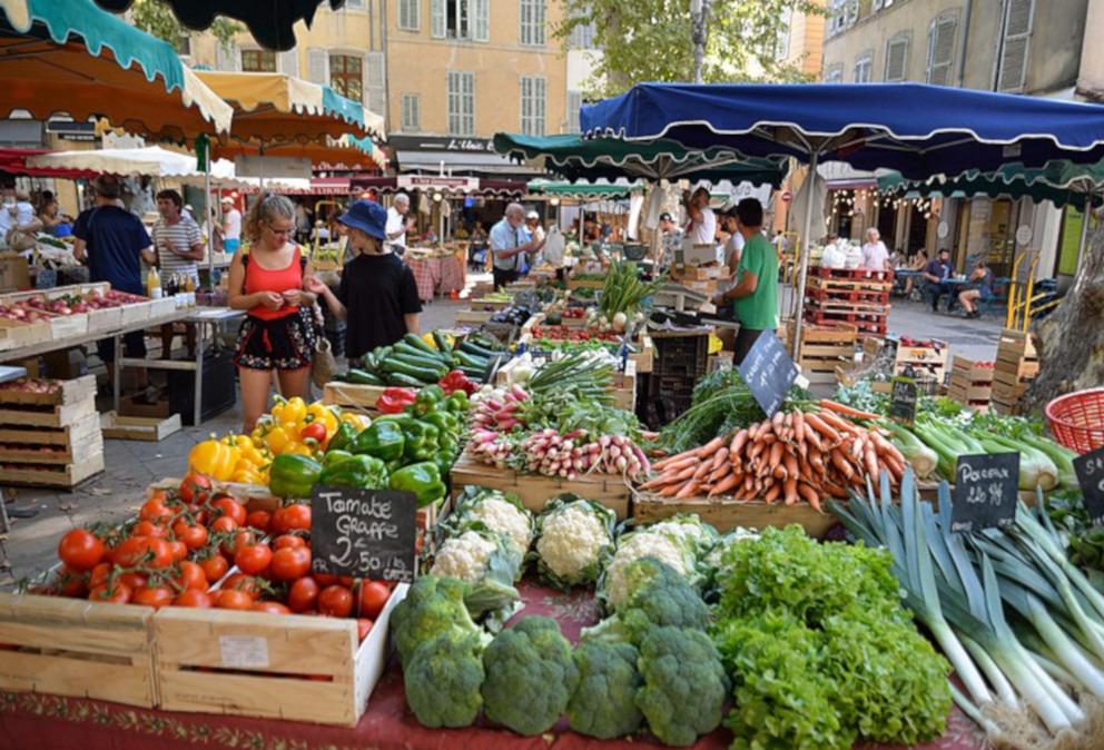 fresh food farmer market aix en provence marche